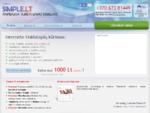Internetinės svetainės, tinklalapių kūrimas - Simple. lt