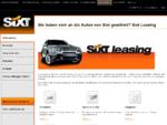 Sixt Leasing – Die Experten für Autoleasing- Autovermietung Sixt