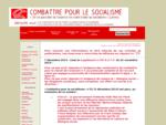 Combattre pour le socialisme - Groupe pour la construction du Parti ouvrier reacute;volutionnaire e