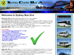 Sydney Bus Hire Coach Hire Sydney Bus Charter Sydney Minibus Rental