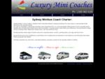 Sydney Minibus Coach Charter