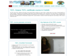 TEFL Greece - TEFL course - Teaching English as a Foreign Language, Corinth, Greece