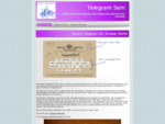 Telegram Sam, send a proper telegram printed on buff card with your own message and sent by Royal M