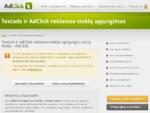 Textads ir AdClick reklamos tinklų apjungimas | Kontekstinės reklamos tinklas