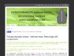 Thérapie Manuelle Energétique ostéothérapeute Méthode Poyet et Réflexologie Globale, Luxoponcture