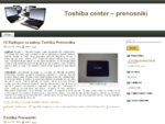Toshiba center - prenosniki
