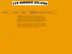 TPE Energie solaire - Accueil