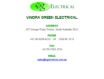 Vindra Green Electrical | Green Energy Electrical Components and Parts Supplier Distributor Adelaid