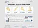Inicio Software y servicios para la web