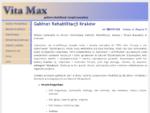 Rehabilitacja Kraków - Gabinet Rehabilitacji i Masażu - Vita Max