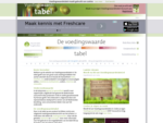 Voedingswaarden overzicht, de voedingswaarde van producten