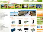 Panneau solaire camping-car - Transformateur 12V 220V - Batterie Gel avec Watteo