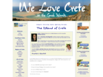 We Love Crete. All about the Greek island, beaches, villages, music, history.