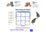 Web Sudoku - Play unlimited sudoku puzzles online for free!