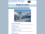 Whistler Canada Tourist Information and Travel Guide