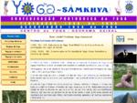 Página principal do Centro do Yoga do Seixal
