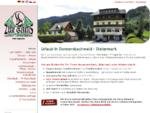"""Gasthof-Pension Appartements Zimmer """"Zur Gams"""" in Donnersbachwald, Skiurlaub Riesneralm, S"""